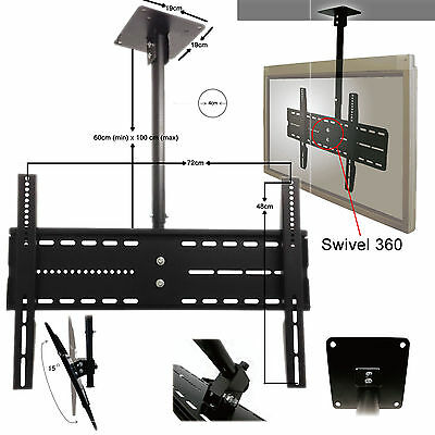 "Ceiling Wall Mount TV Bracket 30"" - 60"" with Tilt Feature and 360 Rotate"