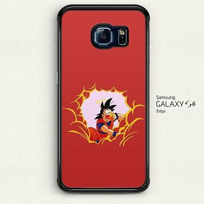 Dragon Ball Son Goku Eat Red Cloud Hard Cover for Samsung Galaxy S6 Edge Case