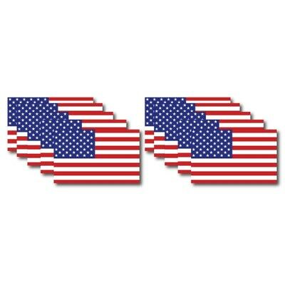 American Flag Magnets 10 Pack 2.375 inch x 4 inch Decal For Car Truck or Fridge