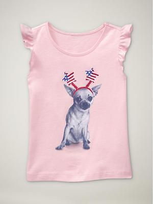 NWT 6-12 MON CUTE BABY GAP DOG ON SCOOTER BODYSUIT TOP SHIRT TWINS GIRLS GIFT!