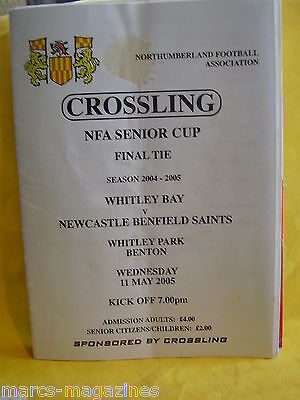 Football Programme Whitley Bay V Newcastle Benfield Saints 11Th May 2005
