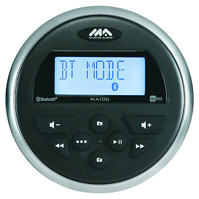 New PLMR91UB Waterproof Bluetooth Marine Gauge Style Receiver USB/MP3 AUX Inputs