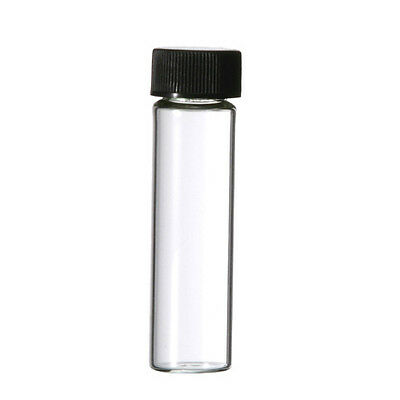 50 - 2 Dram 8 ML 8ML Empty Glass Bottle Screw Top Clear Sample Vial Perfume Oils