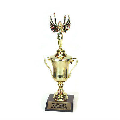 Classic Cup Series Female Cup Trophy Free Lettering Pom Pom Cheerleader