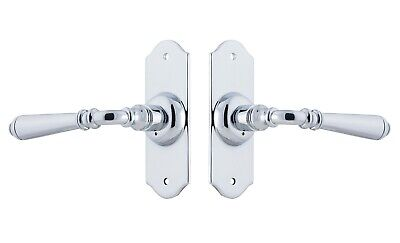 DOOR LEVER-REIMS-CHROME-PASSAGE SET-FRENCH  PROVINCIAL STYLE-forged brass-front