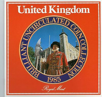 1985 United Kingdom 8 Coin Collection Royal Mint Club Uncirculated Set
