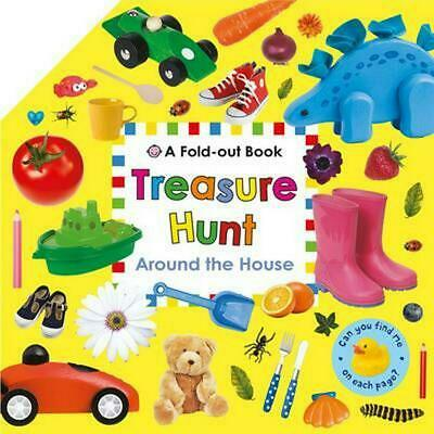 Around the House: Fold Out Treasure Hunts by Roger Priddy Hardcover Book Free Sh