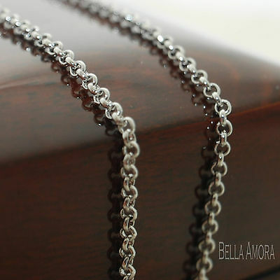 """18K 18ct Gold Plated Belcher Chain Necklace Length 18"""" - Width 2mm - UK 146"""