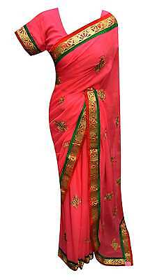 Damen Kleidung Indian Modisch Elegant Bollywood Saree mit passenden Bluse 7166
