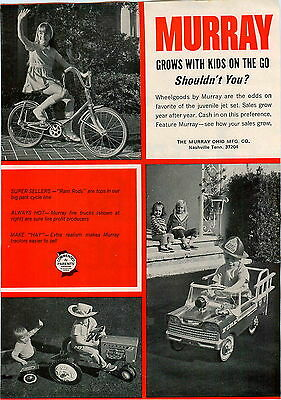 Advertising 1969 Advert Murray Eliminators High Rise Bicycle Diesel Farm Tractor