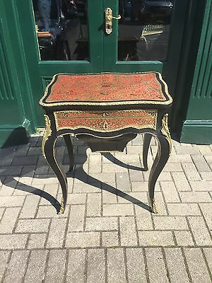 Antique Victorian French Boulle Work Top Table
