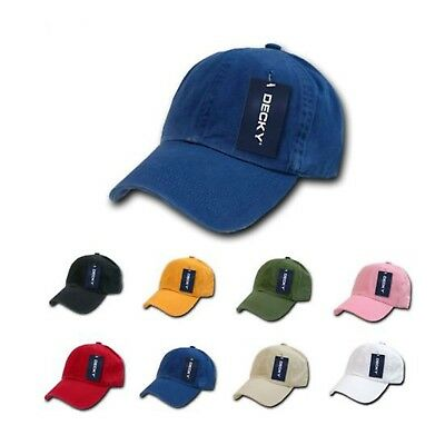 4 sizes Vintage Washed Polo Distressed Baseball 6 Panel Hats Caps DECKY Fitted