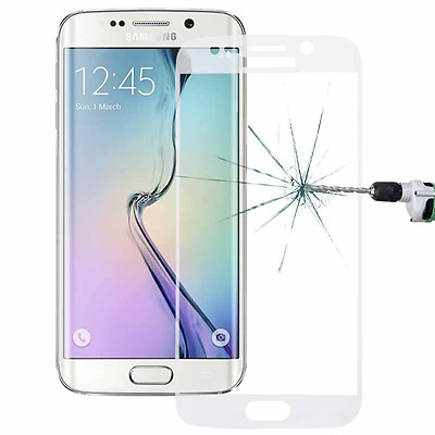 New Samsung Galaxy S6 Edge Curved Full Glass Tempered 3D Screen Protector Clear