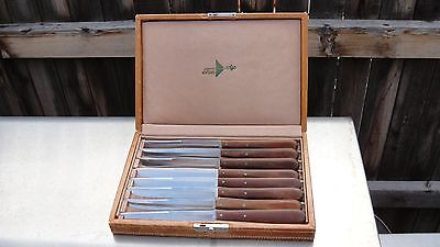 Vintage Set of 8 Shuredge steak knives by Robeson in original box.