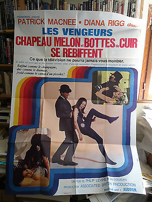 THE AVENGERS/DIANA RIGG+PATRICK MACNEE// french poster