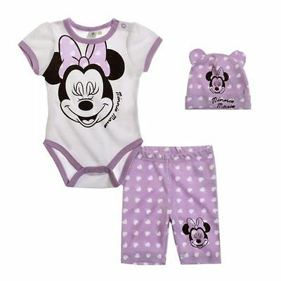 Disney Minnie Set, weiß-lila, Gr. 62-92