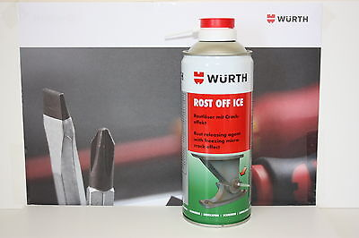 Wurth Rost Off Ice  Releasing Agent Freezing Micro Crack Affect For Rust Ect.
