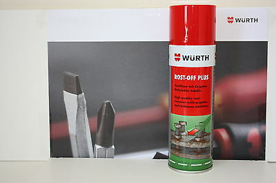 WURTH ROST OFF PLUS 300ml CAN HIGH QUALITY RUST REMOVER.