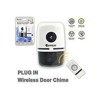 SANSI Up To 150M Range Plug In Wireless Door Bell DB-299