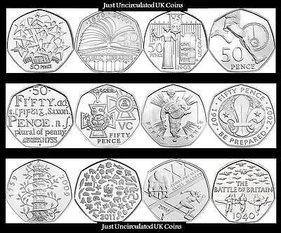 BU 50p Fifty Pence Coins 1998-2019 Various Years - Royal Mint - Kew Gardens - GB