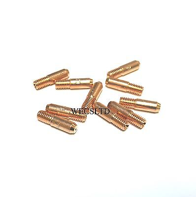 10 X 1.0 mm Mig Euro Torch Contact Tips For MB15 Light Duty Welding 10 Pack