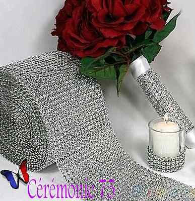 Ruban maille strass 2 rangs décoration mariage scrapbooking