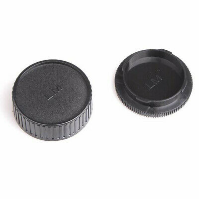 Body Cap + Rear Lens Cap Protective Cover Kit for Leica M L/M Camera Black