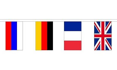 "8 Metres 28 Flag (9"" x 6"") European Countries Nations Eurovision Bunting Flags"