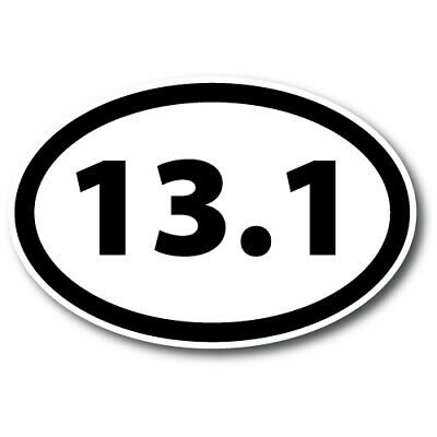 13.1 Black and White Oval Marathon Magnet 4x6 inch Decal for Car Truck or Fridge