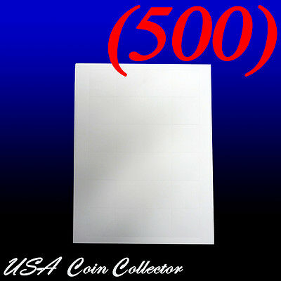 120 White SAFLIPS paper Inserts for 2x2 /& larger Double Pocket Coin Flip