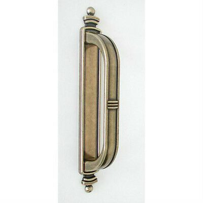 Hi Line Antique Brass Large Latch Handle with Backplate 2 PACK