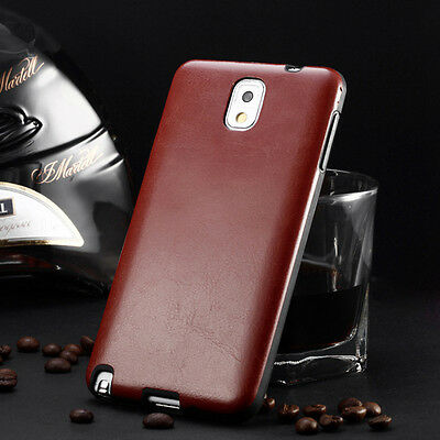 SLIM TPU Rubber Leather Soft Back Case Cover For Samsung Galaxy S5 S4 Note 3