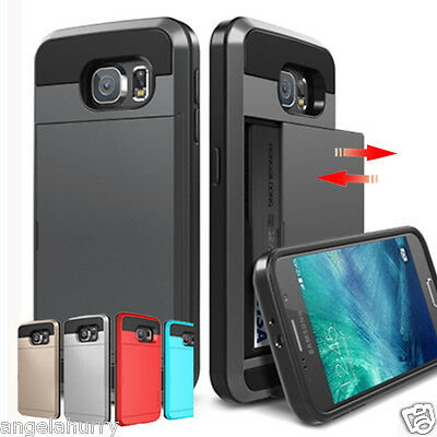 Samsung Galaxy S5 S6 Edge S7 S8 Plus Note 4 5 Slide Armor Heavy Duty Case Cover