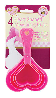 Heart Shaped Measuring Cups set of Four