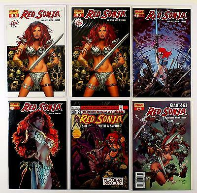 Red Sonja She-Devil With A Sword Lot Of 6 Comics #0 0 1 1 2 2 Giant-Size (Vf/nm)