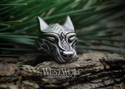 Silver Viking Wolf Head Pendant --- Norse/Warg/Werewolf/Medieval/Jewelry/Skyrim