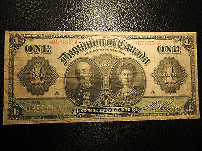 1911 DOMINION OF CANADA $ 1 ONE DOLLAR BOVILLE DC-18d-i 467955-V