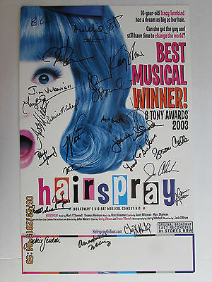 Hairspray Musical signed poster