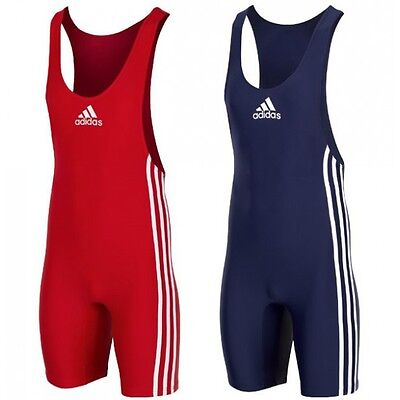 Adidas Wrestling Singlets Suits Ringertrikots - ADIDAS PB (red+blue) PACK