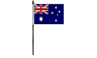 Pack Of Australia Australian Desktop Display Table Flags Flag With Gold Bases