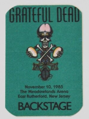 Grateful Dead Backstage Pass 11-10-85 The Meadowlands New Jersey Rick Griffin