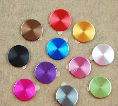 2PCS Aluminium Metal Round Home Button Sticker Easy Remove for Apple iPhone PAT