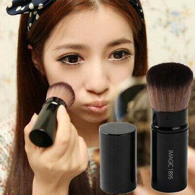 Pro Retractable Face Powder Foundation Makeup Blush Brush Cosmetic Beauty Tool