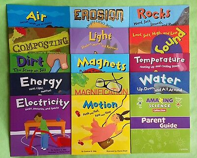 Science Childrens Books Electricity Energy Magnets Rocks Lot 14 Box Set NEW