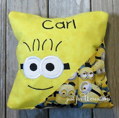 Boy Girl Personalized Embroidered Minion Yellow Design Tooth Fairy Pillow