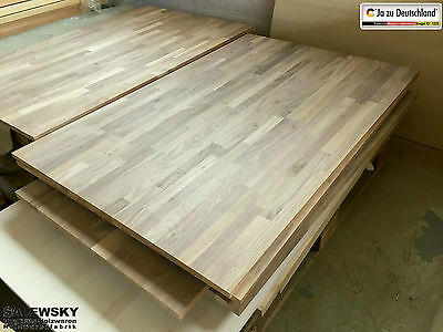 Leimholzplatte Walnuss Massivholzplatte Tischplatte 1250 x 810 x 17mm TOP Quali.