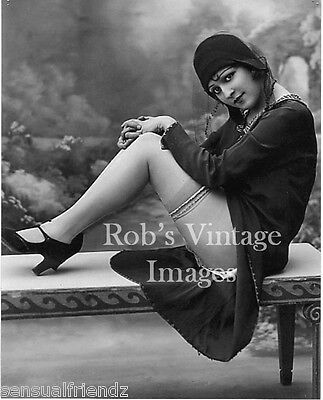 Vintage Flapper Daring Sexy  Photo 1920s Flappers Jazz Prohibition