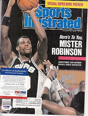 David Robinson Sports Illustrated Autograph Auto Psa Dna Certified Authentic