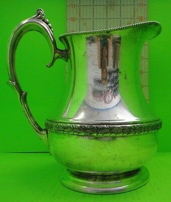 National Silver On Copper  Water Tea  Pitcher