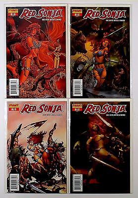 Red Sonja She-Devil With A Sword Lot Of 4 Comics #11 A B C D Variant (Vf/nm)